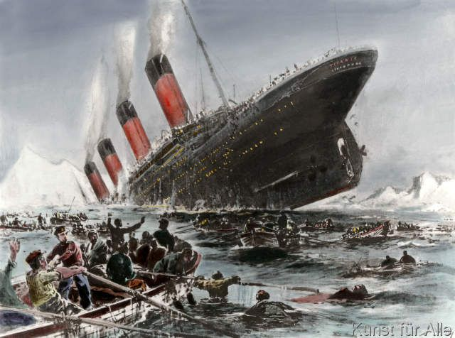 Willy Stöwer - The Sinking of the Titanic