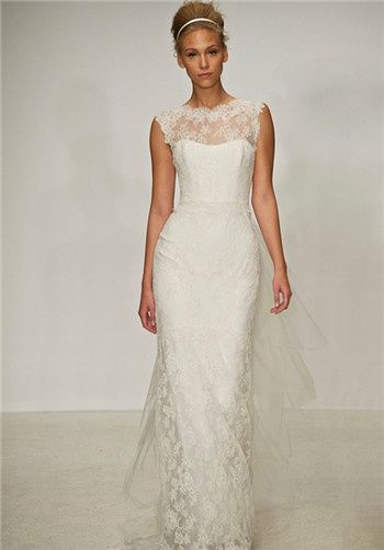 Nice I love this elegant dress by Christos Bridal The laced front and deep V back are so pretty