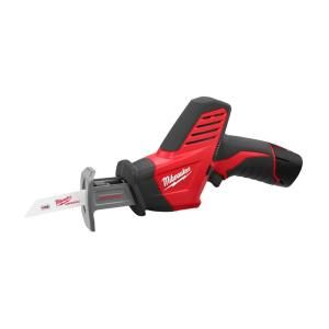 Milwaukee M12 12-Volt Lithium-Ion Cordless Hackzall Reciprocating Saw 1 Battery Kit-2420-21 at The Home Depot