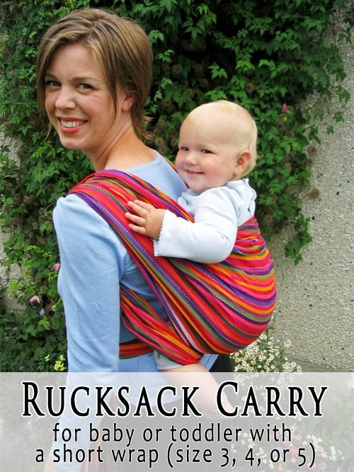 Simple Rucksack Back Carry with a short or long woven wrap