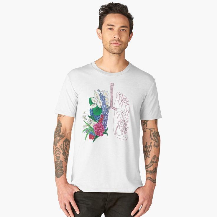 """Lungs"" Men's Premium T-Shirt by ThreeEyedKat | Redbubble"