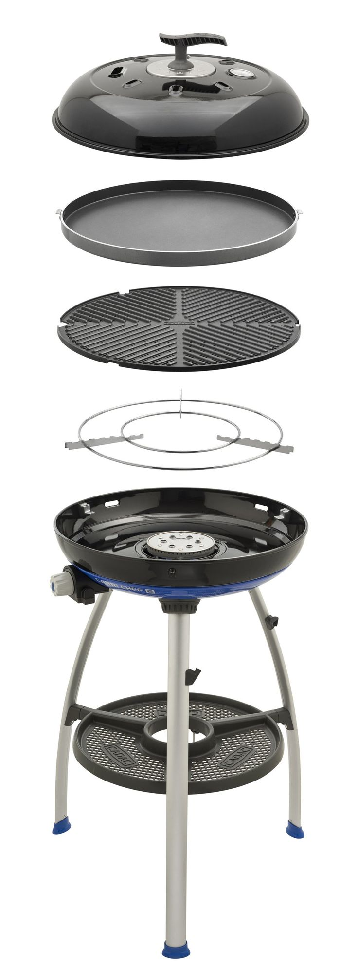 Cadac 8910-40 Carri Chef 2 Outdoor Grill with Pot Stand, Barbeque Grid and Chef Pan