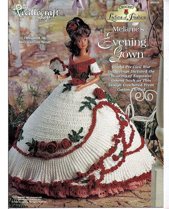 Ladies of Fashion Melanies Evening Gown Fashion Doll Crochet Pattern The Needlecraft Shop 962504.