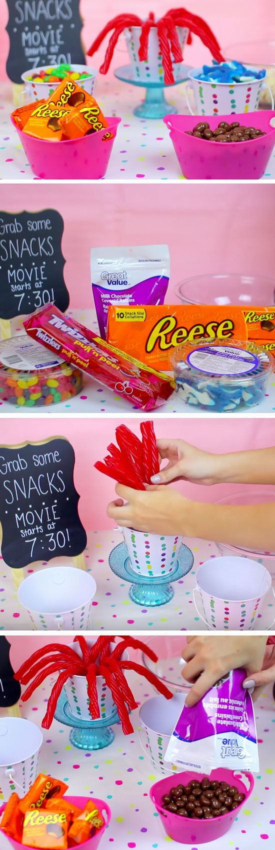 Treat Cups   19 DIY Movie Night Ideas for Teens that will get the party started!