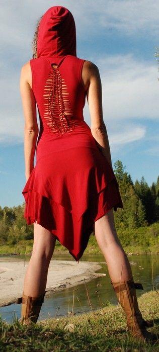 Goddess of the Galaxy Dress, Kiara Spring, via Etsy. In black no hood.