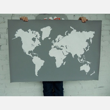 42 best Intuition Design images on Pinterest Home ideas, Intuition - best of world map grey image