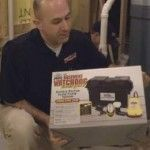 The cost of preventing a flooded basement is small when compared to the damage caused by a failed sump pump. Learn how to install a Battery Backup Sump pump yourself.