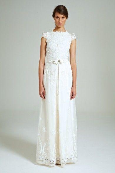 Collette Dinnigan Rococo Embroidered Organza Gown