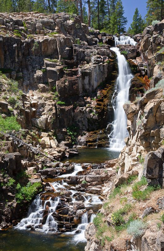 Webber Falls in Northern California: Each spring the Little Truckee River swells with snowmelt and takes a roaring leap into a deep, arid gorge, forming the mighty Webber Falls. #wanderlist