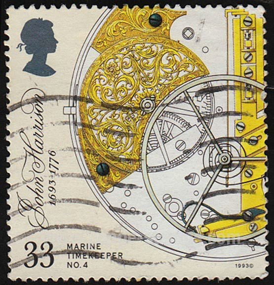 Poppe Stamps: Great Britain , 1993, 1656, Birthday, Inventions, Inventors, Time, Scales, Chronometers, Balance Spring, John Harrison - stamps for sale by theme and country