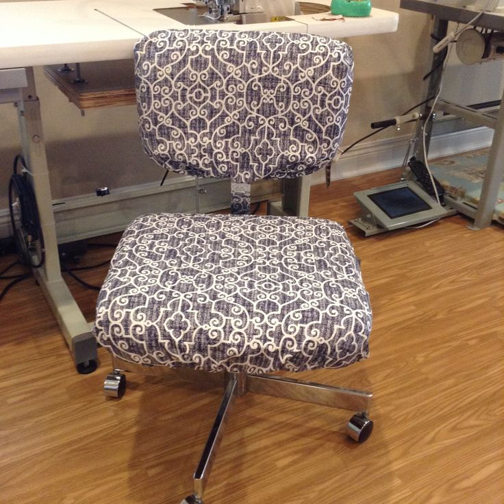 Office Chair Seat And Back Covers With Monogram, Dorm Chair Slipcover,  Elasticized Chair Covers