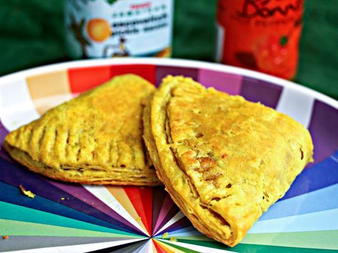 These flaky Jamaican meat patties are filled with curried ground beef, onion, garlic, and Scotch bonnet pepper, plus a slew of aromatic herbs and spices. Formed into half-moon shapes, the patties are cooked until golden in the oven—eating them is almost as good as an actual trip to Jamaica. Almost.