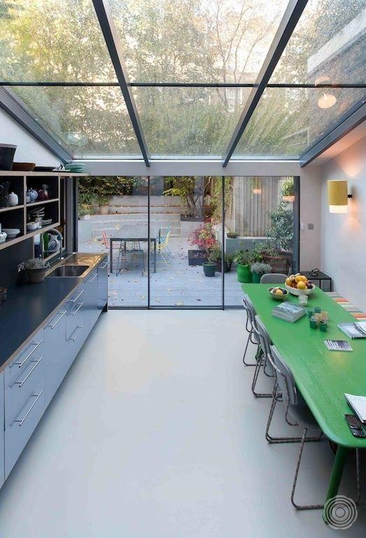 Licht - prachtige gietvloer en goed idee voor de aanbouw
