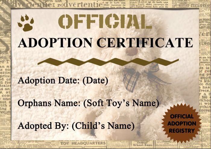 build a bear birth certificate template - 10 best images about teddy adoption on pinterest birth