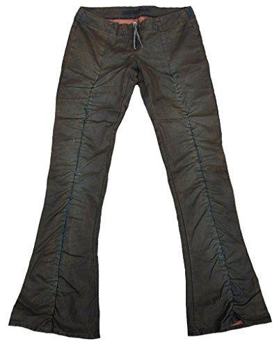 Fornarina femme Jeans Green Army Modèle REINVENT PETROL PLEA. CANV. PANT  Rock Star PANTALON 59113192dba