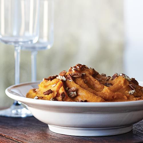 Coconut Cardamom Sweet Potatoes...a fresh new take on the traditional, fattening sweet potato casserole. Only 100 calories per serving for this version, and it tastes yummy!