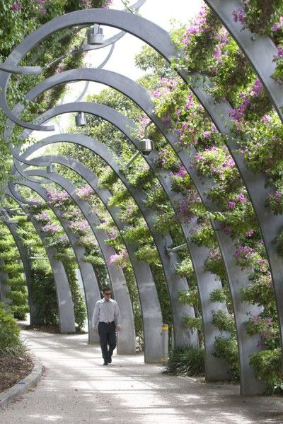 I love the look of this. A great idea (on a smaller scale) for a residential garden! Southbank Arbour - Greening System » Ronstan Tensile Architecture