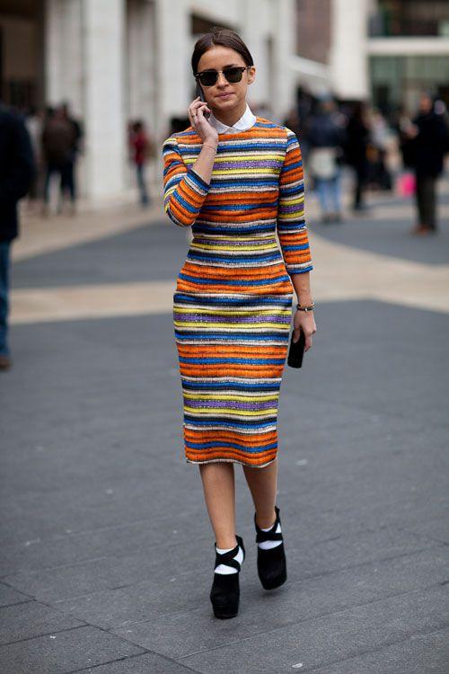 Miroslava Duma during New York Fashion Week.