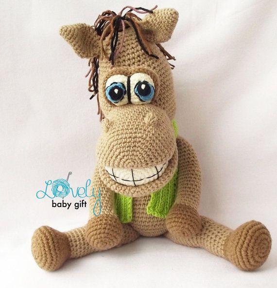 Amigurumis ganchillo patrón peluche caballo por LovelyBabyGift