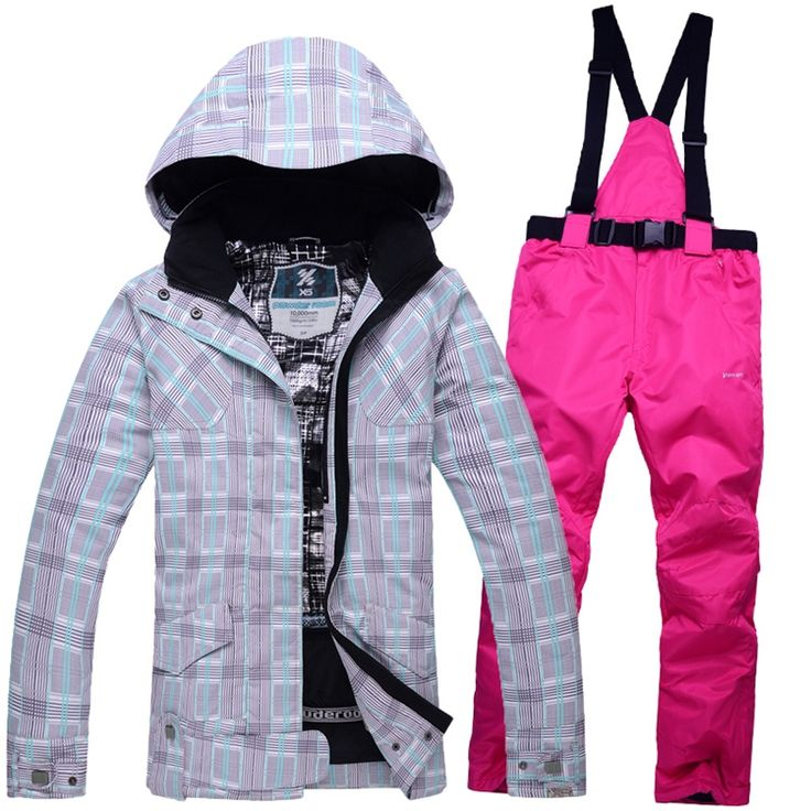 51.75$  Watch now - http://ali73r.shopchina.info/1/go.php?t=32749461003 - Cheap Woman Brands ski Clothes ourdoor sports ski suit sets women ski snowboard waterproof windproof therma jackets + Bib pants  #magazine