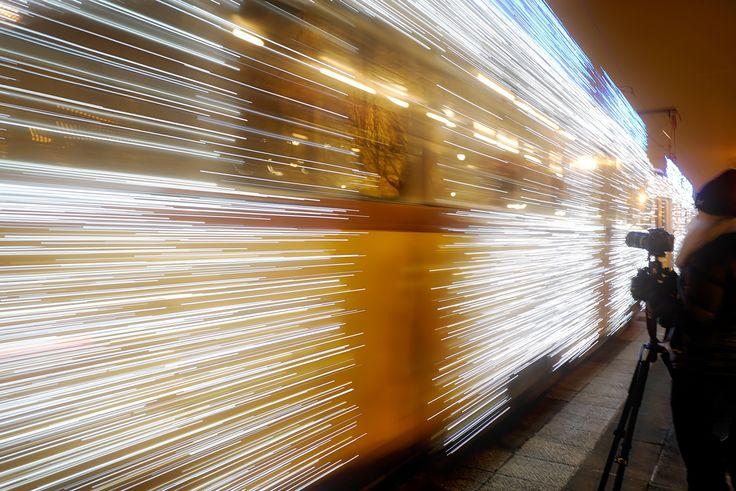 Hunting the lights tram #streetphotography #arthysteriastudio #tram #lightstram