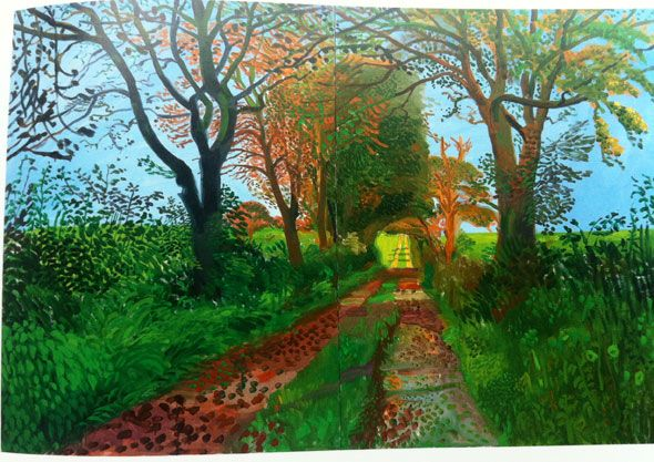 david hockney paintings | david hockney landscape tunnel Art | David Hockneys Landscapes
