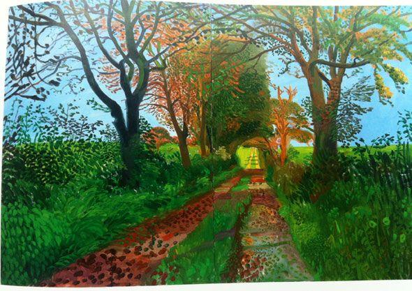 david hockney paintings | david hockney landscape tunnel Art | David Hockneys Landscapes