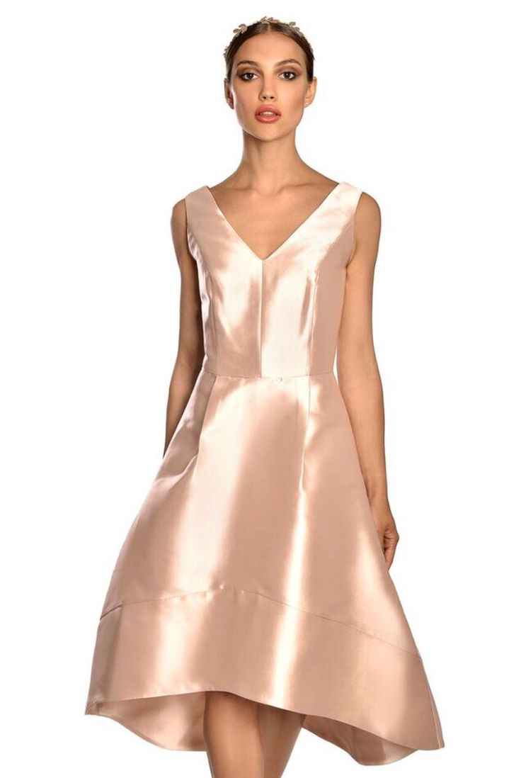 Nude pink evening dress