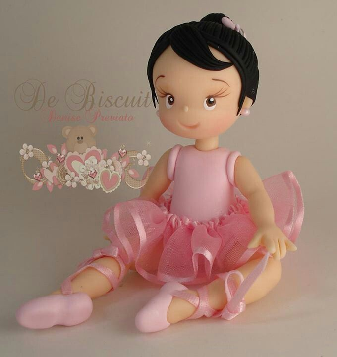 Baby cake topper  ballarina of fonte or clay