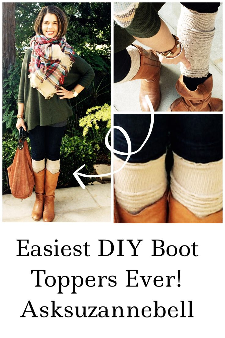 Learn how to tie a blanket scarf and make the easiest DIY boot toppers ever today over on the blog! www.asksuzannebell.com