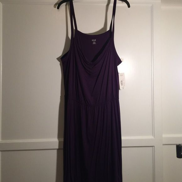 NWT Very cute spaghetti strap dress NWT Very cute summer dress. This is a very pretty deep purple. Spaghetti straps & elastic waste! Any reasonable offer accepted & I also offer discounts on bundles. Thanks for stopping by! Happy Poshing a.n.a Dresses Midi