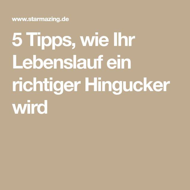 5 Lebenslauf Tipps, wie Ihr CV ein richtiger Hingucker ...