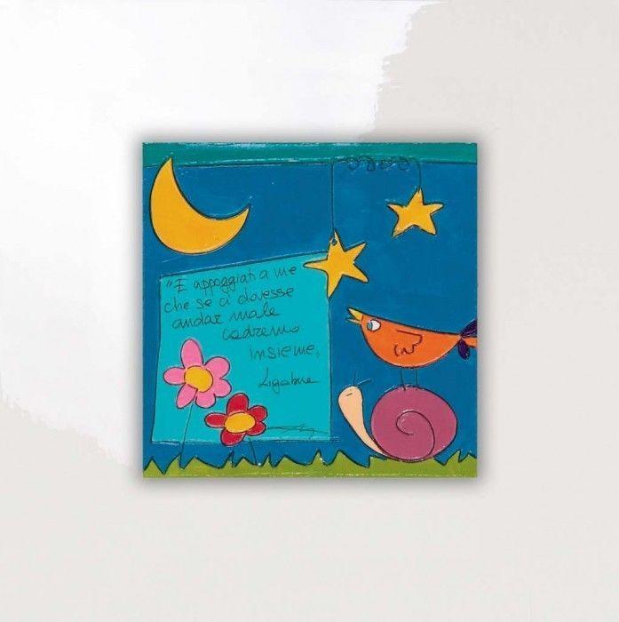 SALVADORIARTE dipinto a mano - quadro 28x28 - decorazione arredo casa aforisma F