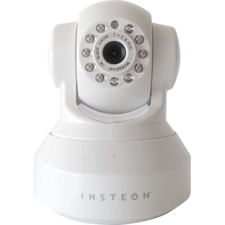 INSTEON 2864-222 Wireless HD 720p IP Camera with Pan, Tilt and Night Vision - White