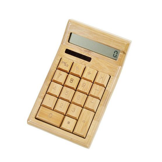 Bamboo Solar Calculator  $28Things Bamboo, Offices Spaces, Izen Bamboo, Design Wood, Solar Power, Bamboo Offices, Eco Offices, Bamboo Calculator, Offices Supplies
