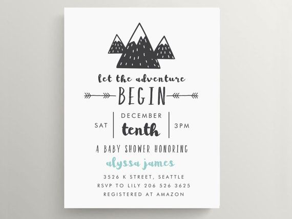 Hey, I found this really awesome Etsy listing at https://www.etsy.com/au/listing/476114016/mountain-adventure-baby-shower