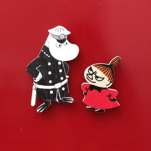 The Inspector and Little My wooden magnets by Aprilmai