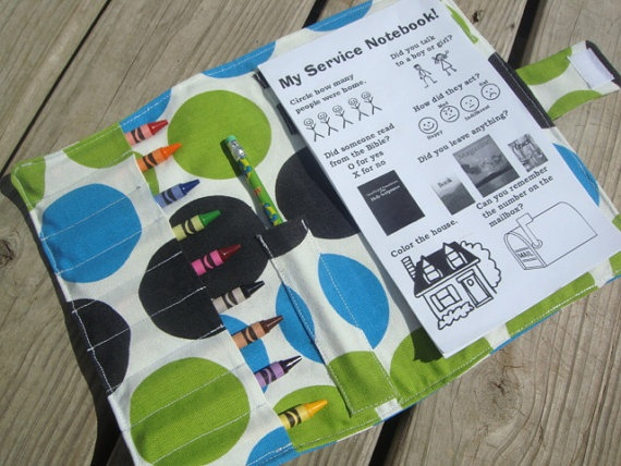 Awesome field service book for kids! @Didi Collins we need to make a few of these.