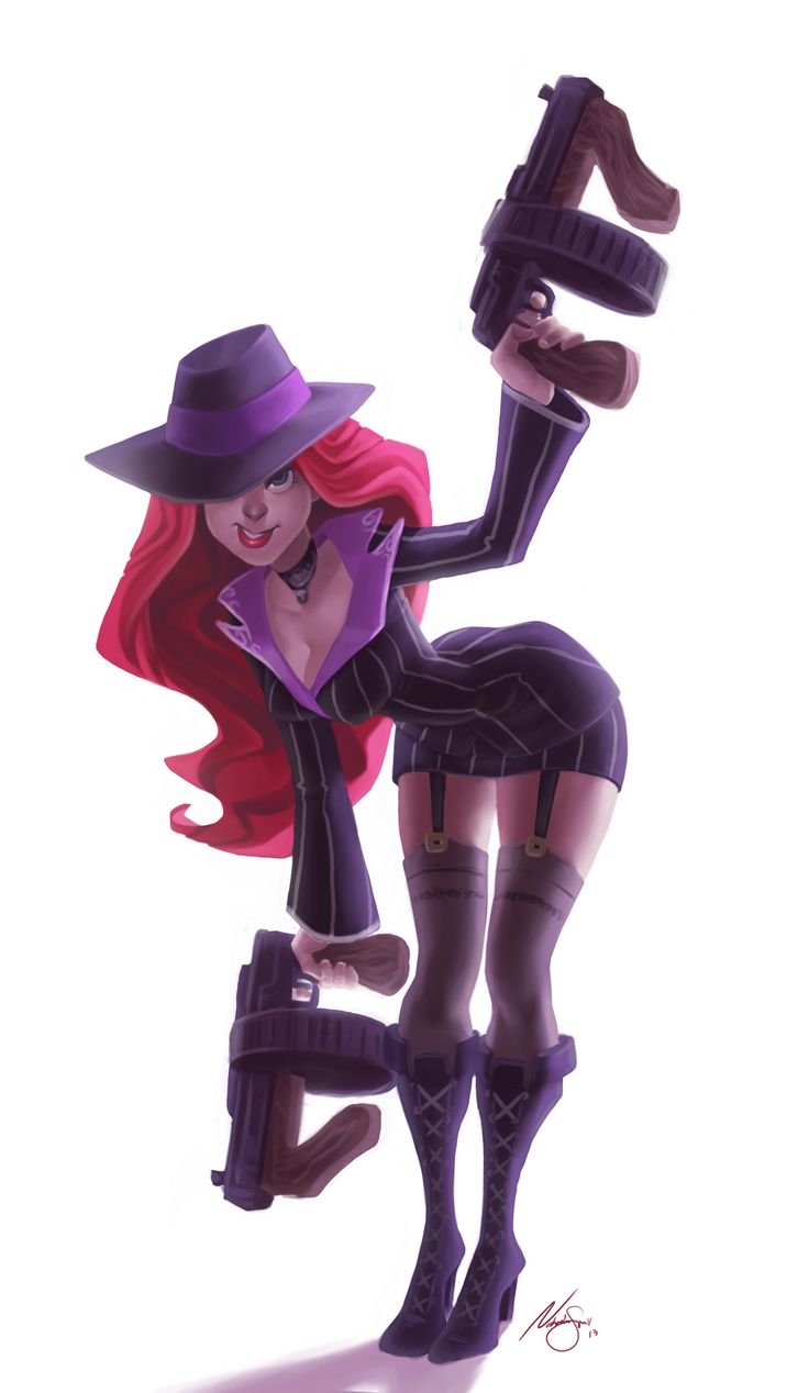 Another commission, this time we have mafia Miss Fortune!