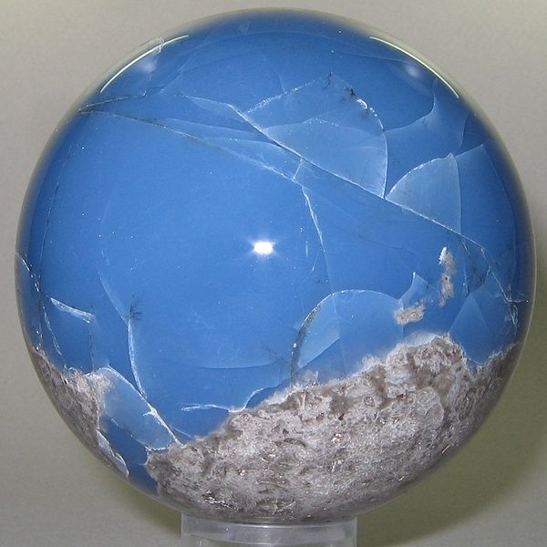 Large blue opal from Argentina