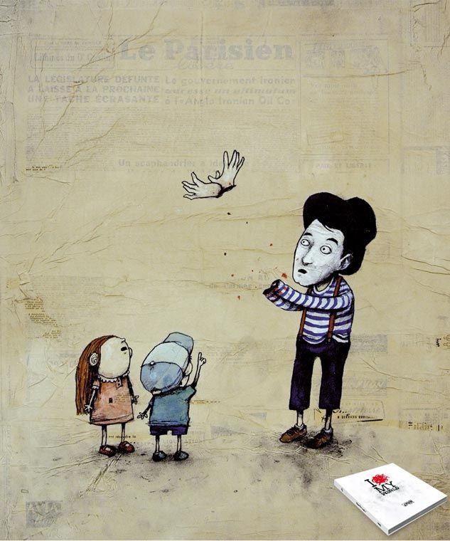 toulouse street art photographie peinture Humour Noir graffiti Dran dessin  Dran Mime colombe1
