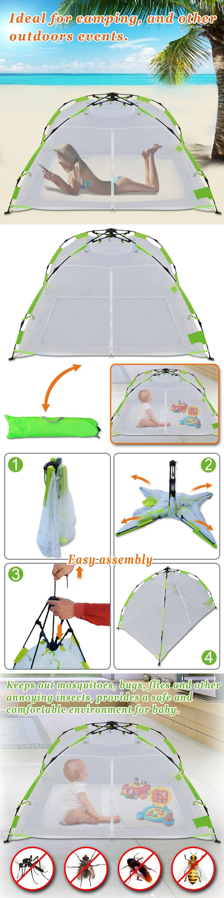 Canopies and Netting 180905: Kid Adult Pet Mosquito Multi-Use Net Pop Up Instant Tent Camping Indoor Outdoor -> BUY IT NOW ONLY: $46.99 on eBay!