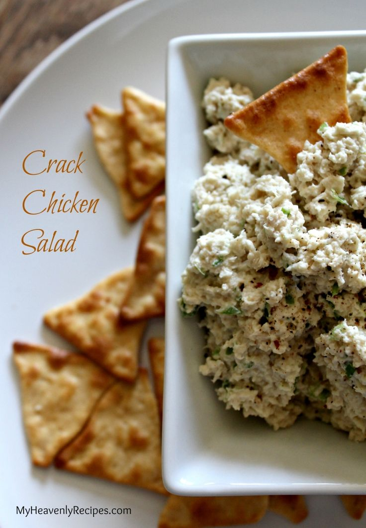 Crack Chicken Salad --  you'll never make another chicken salad recipe again! And, you won't believe how simple it is to make.