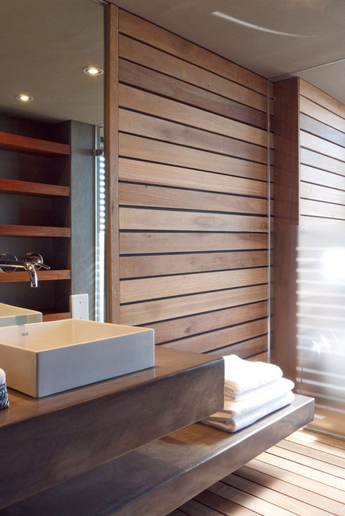 Images On This modern bathroom design offers spectacular views from both the bedroom and bathroom and promotes the idea of getting back to nature