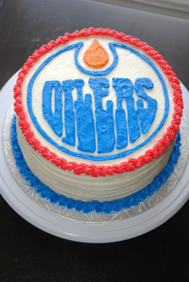 Edmonton Oilers Cake - by Razzberry Cakes