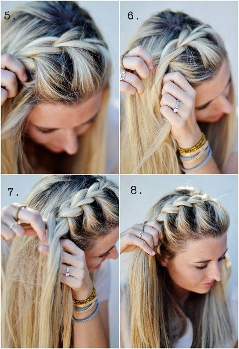 Half-Up Side French Braid: Just tried this. Looked really cute and was pretty easy. Took me about 5-10 mins but obviously will get quicker with time.