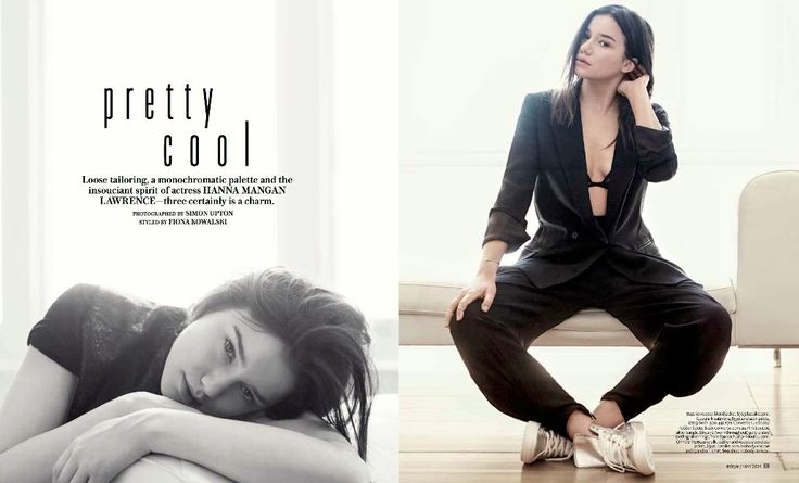 Hanna Mangan Lawrence in InStyle May 2014