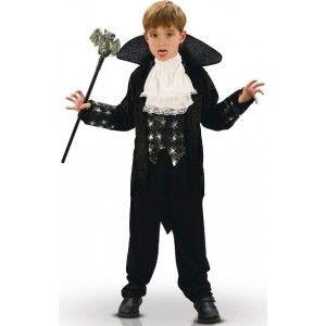 deguisement Comte Dracula Vampire Enfant Deluxe pour Halloween et fêtes déguisées.