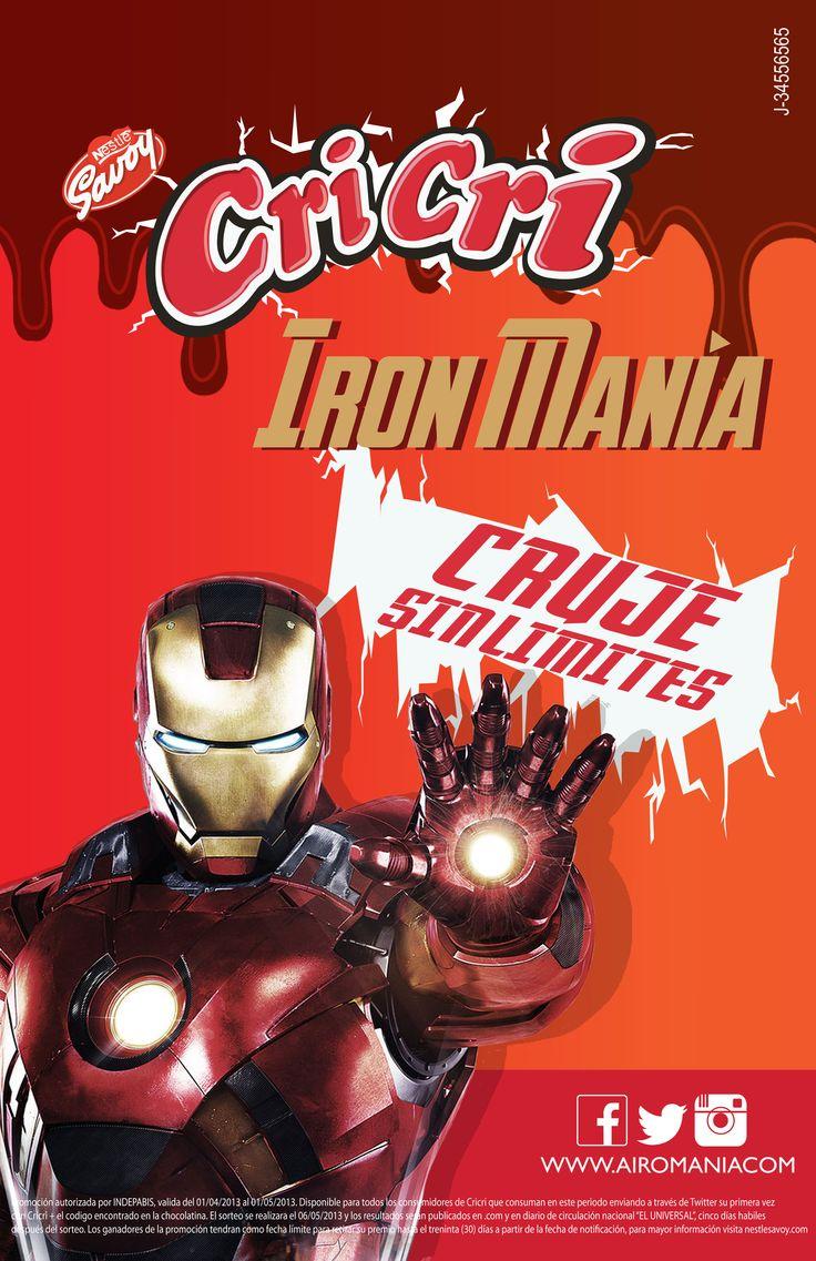 Publcidad de la Promoción Iron Manía para la Campaña Publicitaria de Chocolates Cri Cri de la Marca Savoy de Nestle