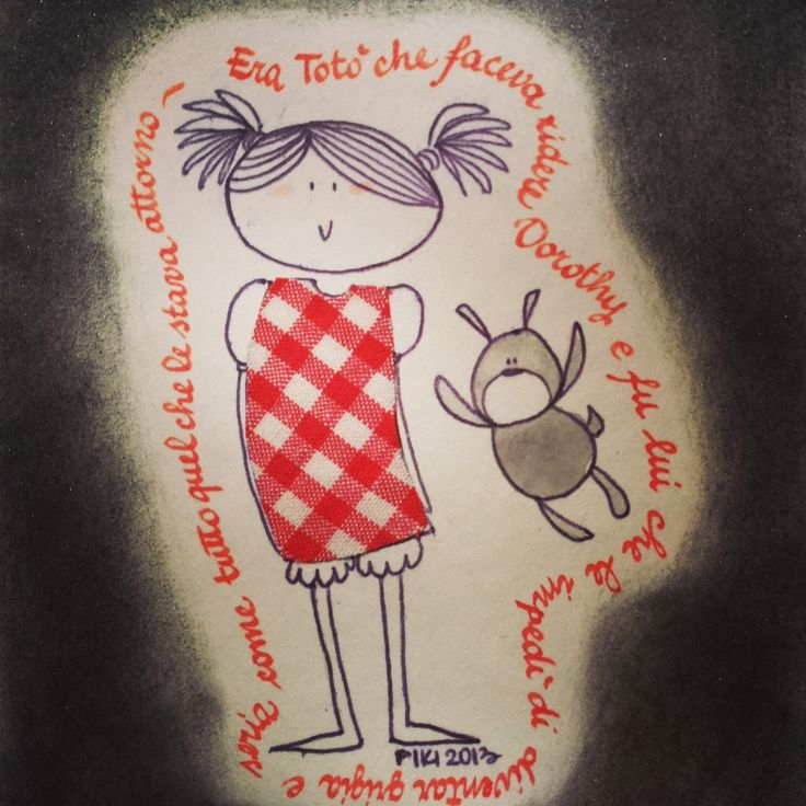 #Dorothy #TheWizardofOz #Baum #PIKI #illustration #ink